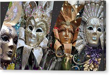 Canvas Print featuring the photograph Masquerade Craziness by Amanda Eberly-Kudamik