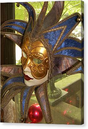 Canvas Print featuring the photograph Masquerade by Jean Goodwin Brooks