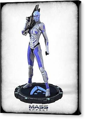 Mass Effect - Asari Alliance Soldier Canvas Print by Frederico Borges