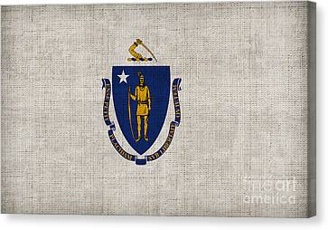Massachusetts State Flag Canvas Print by Pixel Chimp