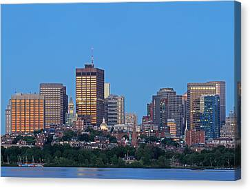 Charles River Canvas Print - Massachusetts State House And Beacon Hill by Juergen Roth