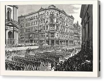 Massachusetts The Boston Celebration, The Twenty-third Canvas Print by American School