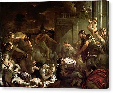 Massacre Of The Innocents Canvas Print by Luca Giordano