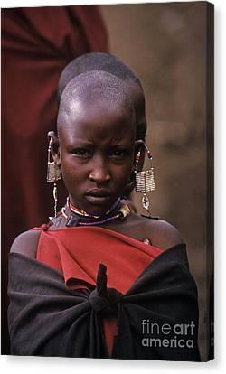 Massai Girl - Tanzania Canvas Print by Craig Lovell