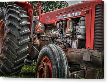 Massey Ferguson Antique Tractor Canvas Print by Bill Wakeley