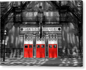 Fire Escape Canvas Print - Massey Hall 1 by Andrew Fare