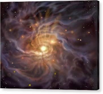 Massive Starbirth Region Canvas Print by David A. Hardy