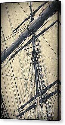 Mast And Rigging Postcard Canvas Print