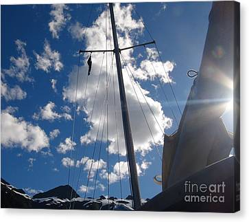 Mast And Sky Canvas Print by Laura  Wong-Rose
