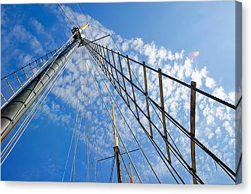 Masted Sky Canvas Print by Keith Armstrong