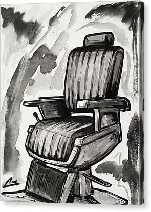 Barberchairs Canvas Print - Master Chair by The Barber Gallery