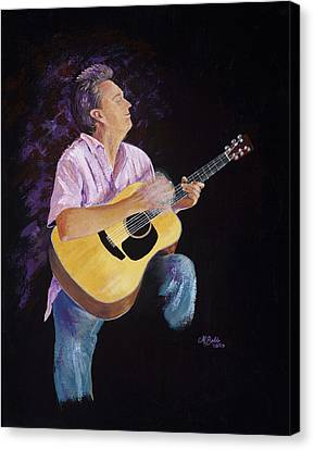 Canvas Print featuring the painting Master In The Spotlight by Margaret Bobb