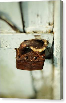 Master Lock Canvas Print by Rebecca Sherman