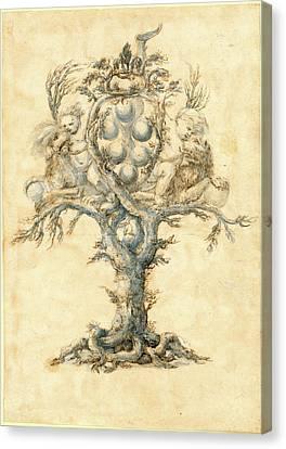 Master Of The Medici Banquet Decanters, Italian Active Canvas Print