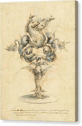 Master Of The Medici Banquet Decanters Italian Canvas Print
