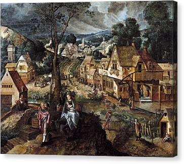 Localities Canvas Print - Master Of The Prodigal Son  16th by Everett