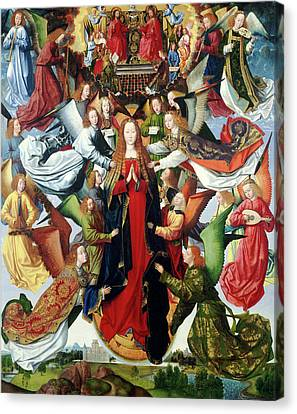 Master Of The Saint Lucy Legend, Mary, Queen Of Heaven Canvas Print by Litz Collection