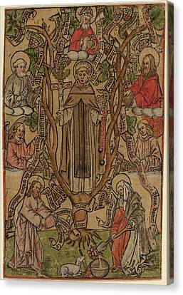 Saint Dominic Canvas Print - Master S Flemish, Active 1505-1520, Saint Dominic by Quint Lox