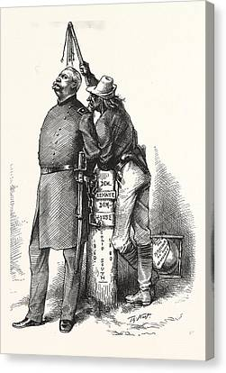 Master Slave. Solid I Count In And You Be As Tu Canvas Print by American School