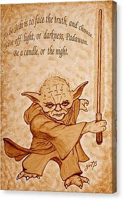 Master Yoda Wisdom Canvas Print