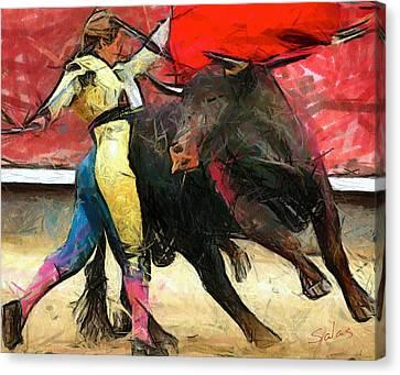 Masterful Canvas Print - Masterful Matador by Francisco Sanchez Salas