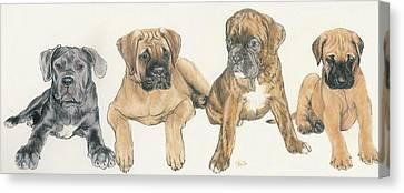 Working Dog Canvas Print - Mastiff Puppies by Barbara Keith