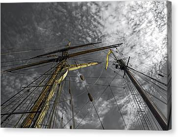 Masts And Rigging Canvas Print