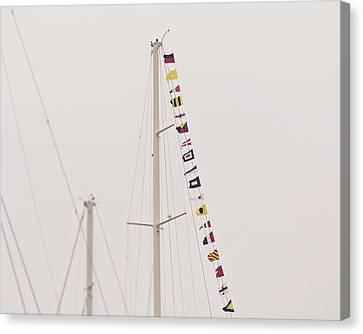 Masts Canvas Print by Jillian Audrey Photography
