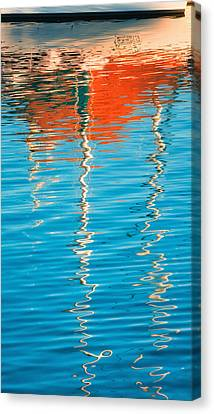 Masts Showing Off Canvas Print by Joan Herwig