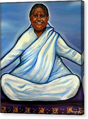 Mata Amritanandamayi Canvas Print by Carmen Cordova