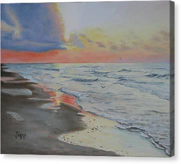 Matagorda Beach Sunrise Canvas Print