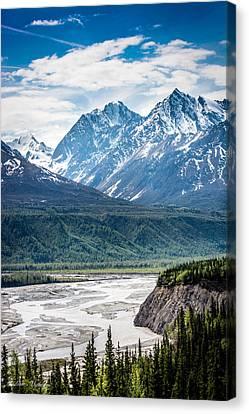 Matanuska River  Canvas Print by Andrew Matwijec