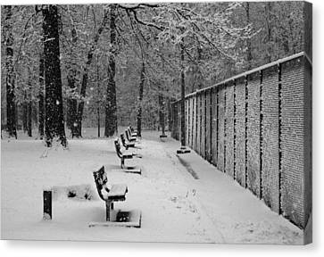 Canvas Print featuring the photograph Match Called For Snow by Andy Lawless
