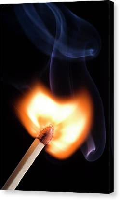Match Igniting Canvas Print by Daniel Sambraus