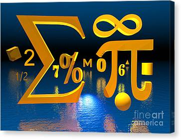 Mathematics Canvas Print by Carol and Mike Werner
