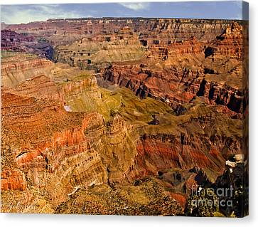 Thomas Moran Canvas Print - Mather Point Formations. by Bob and Nadine Johnston