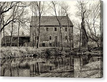 Mather's Grist Mill Canvas Print by Bill Cannon