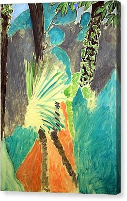Matisse's Palm Leaf In Tangier Canvas Print by Cora Wandel