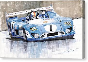 Matra Simca 670 Francois Cevert Canvas Print by Yuriy  Shevchuk