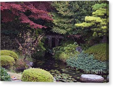 Canvas Print featuring the photograph Matsue Garden by Cassandra Buckley