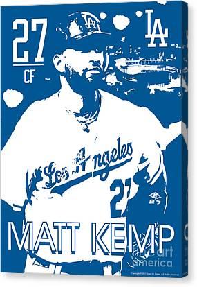 Matt Kemp Canvas Print by Israel Torres