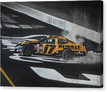 Matt Kenseth Wins At Bristol Canvas Print