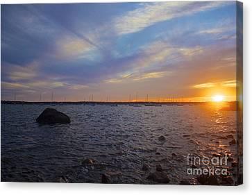 Mattapoisett Sunset Canvas Print by Amazing Jules