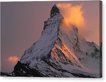 Matterhorn At Sunset Canvas Print by Jetson Nguyen