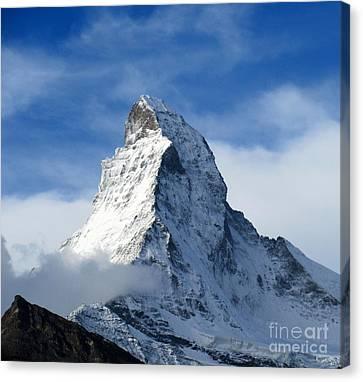 Swiss Horn Canvas Print - Matterhorn by Lynn R Morris