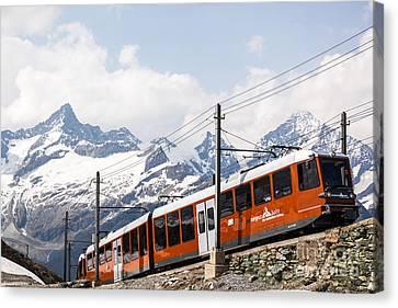 Matterhorn Railway Zermatt Switzerland Canvas Print by Matteo Colombo