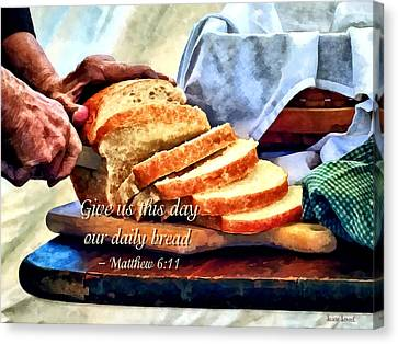 Matthew 6 11 Canvas Print by Susan Savad