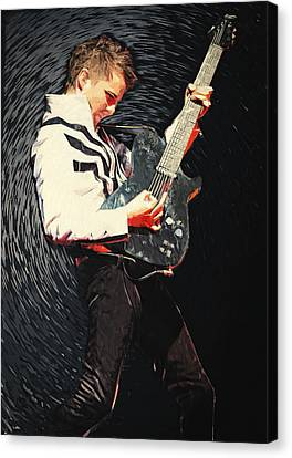 Matthew Bellamy Canvas Print by Taylan Apukovska