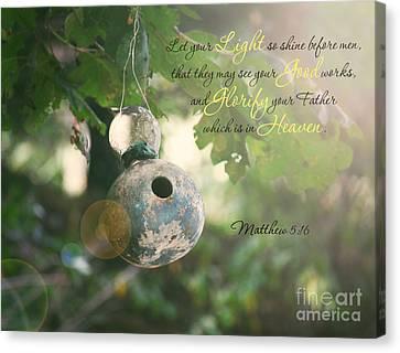 Matthew Verse Canvas Print by Lena Auxier