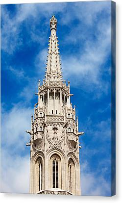 Matthias Church Bell Tower In Budapest Canvas Print by Artur Bogacki